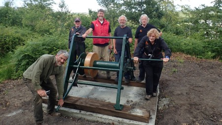 Volunteers dedicated more than 350 hours to restore the historic winch