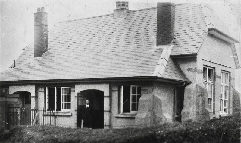 The school pictured in the early 1930's...the Headmaster stands at the door!
