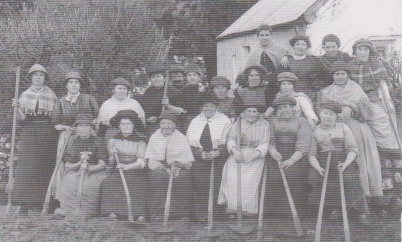 The womenfolk of Hook regularly volunteered to improve the ankle deep mud track