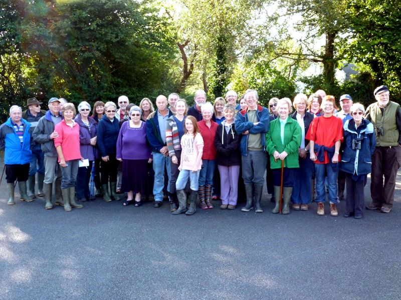 Stalwarts who embarked on the first walk to be organised by the History Society