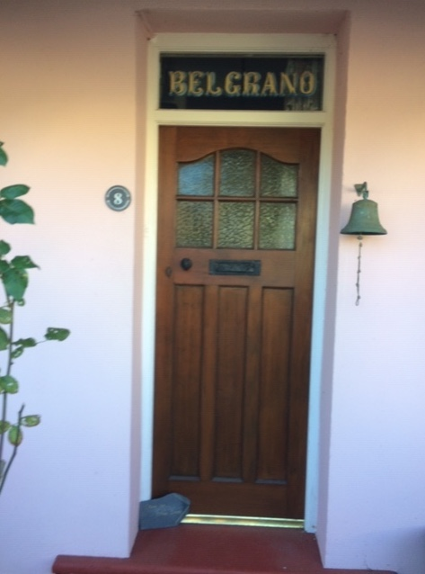 The bungalow in Llangwm with Belgrano still proudly emblazoned above the front door